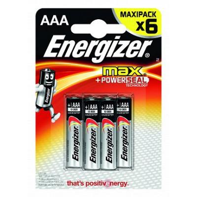 Батарейки Energizer MAX E92/AAA1,5V - 6 шт.